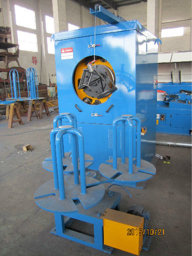 Blue Automated Steel Wire Take Up Machine With Pneumatic Brake Low Noise