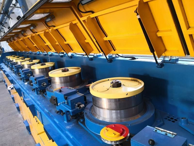 Servo Direct Connection Wire Processing Machine , Straight Wire Drawing Machine